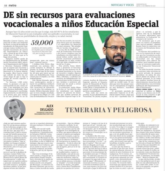 Periodico Metro - 13 feb. Investigacion 1
